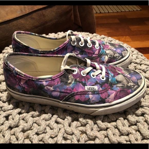 85bf08463294 Purple Flower Vans. M 5c205abf03087c4b42dc5300
